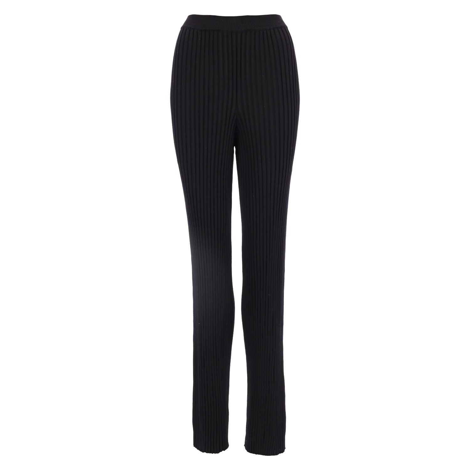 RIBBED KNITTED PANTS