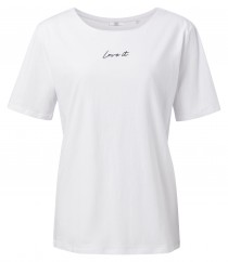 Cotton T-shirt with quote